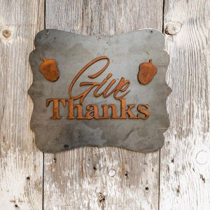 Give Thanks with Acorns - Magnets - Rusted