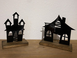 Haunted House Metal - Halloween Interchangeable Decor