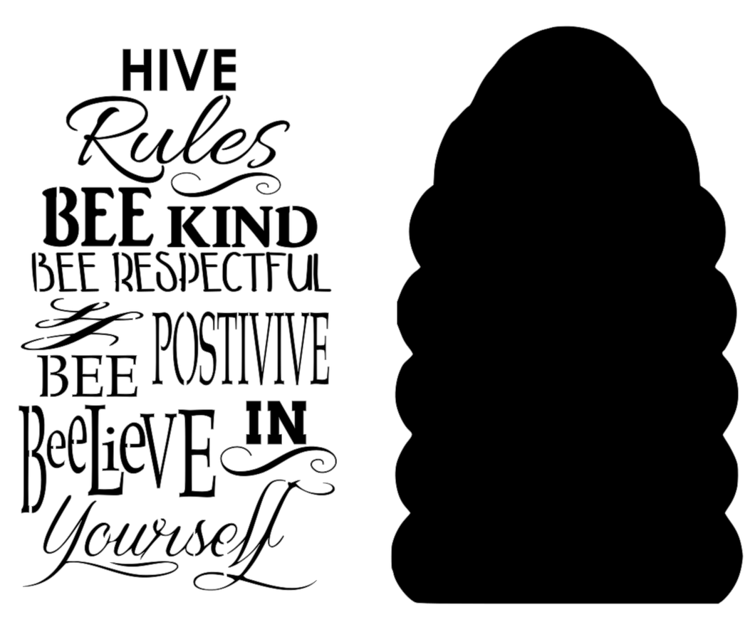 Stencil - Hive Rules with Bee Hive