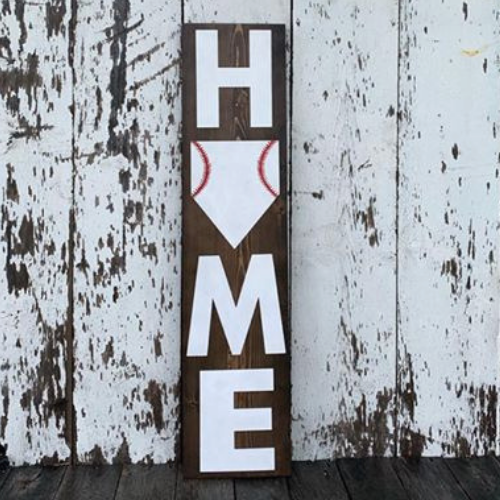 HOME Porch Sign Baseball Plate