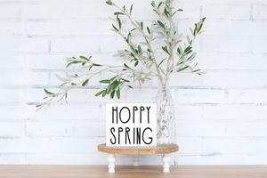 Hoppy Spring - solid - 7.25""