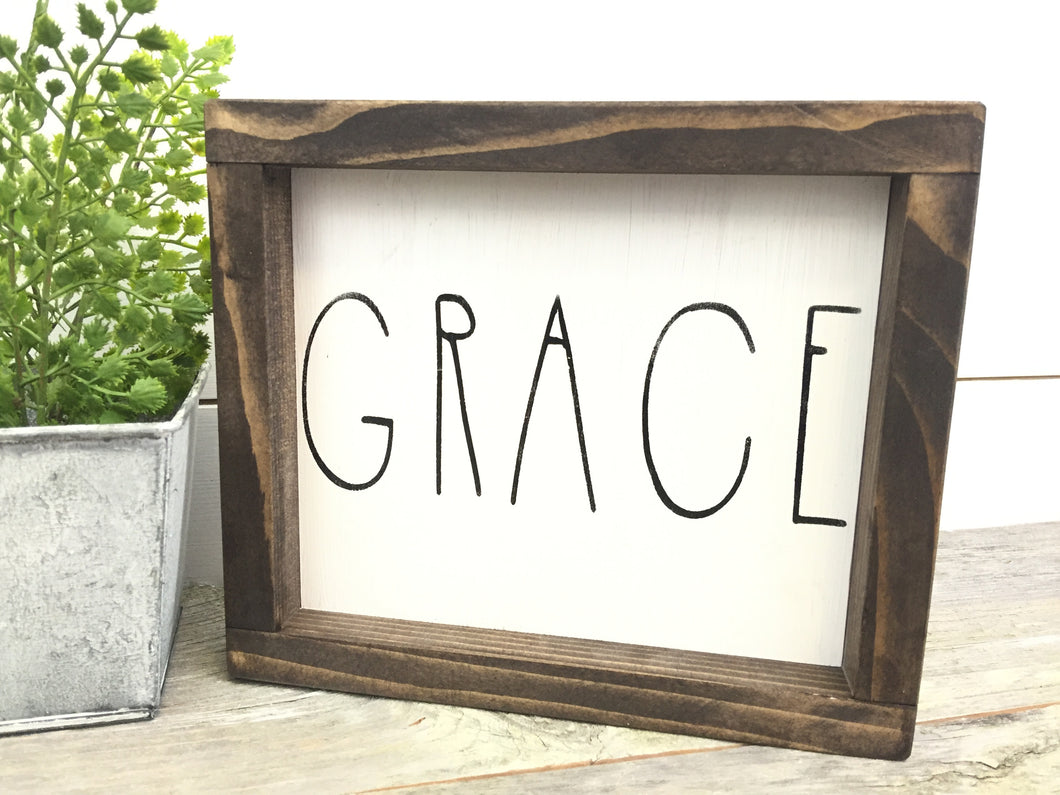 Grace Wood Sign