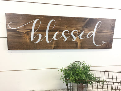 Blessed Inspirational Wall Word