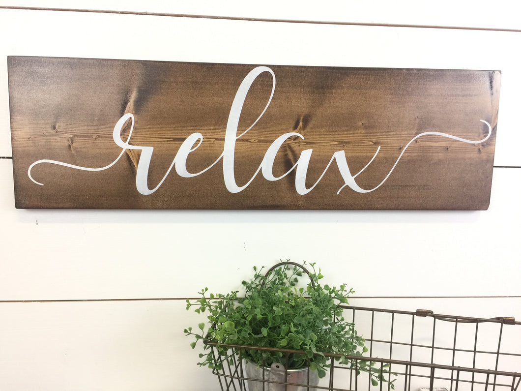 Relax Inspirational Wall Word