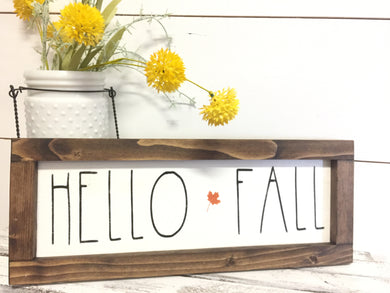 Framed Happy Fall Wood Sign