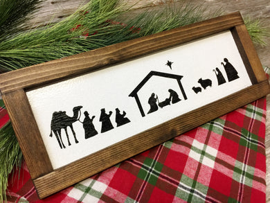 Framed Nativity Scene