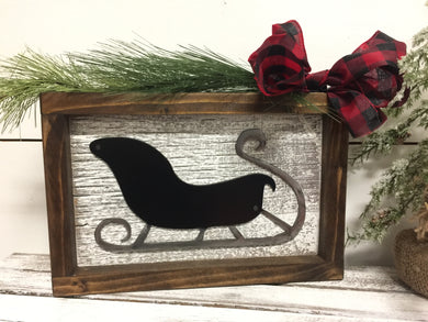 Barnwood Santa Sleigh in Black