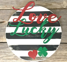 "Interchangeable Love and Lucky 18"" Round"