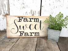 Farm Sweet Farm Wood Sign