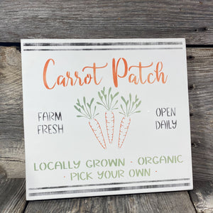Carrot Patch Sign - 12""