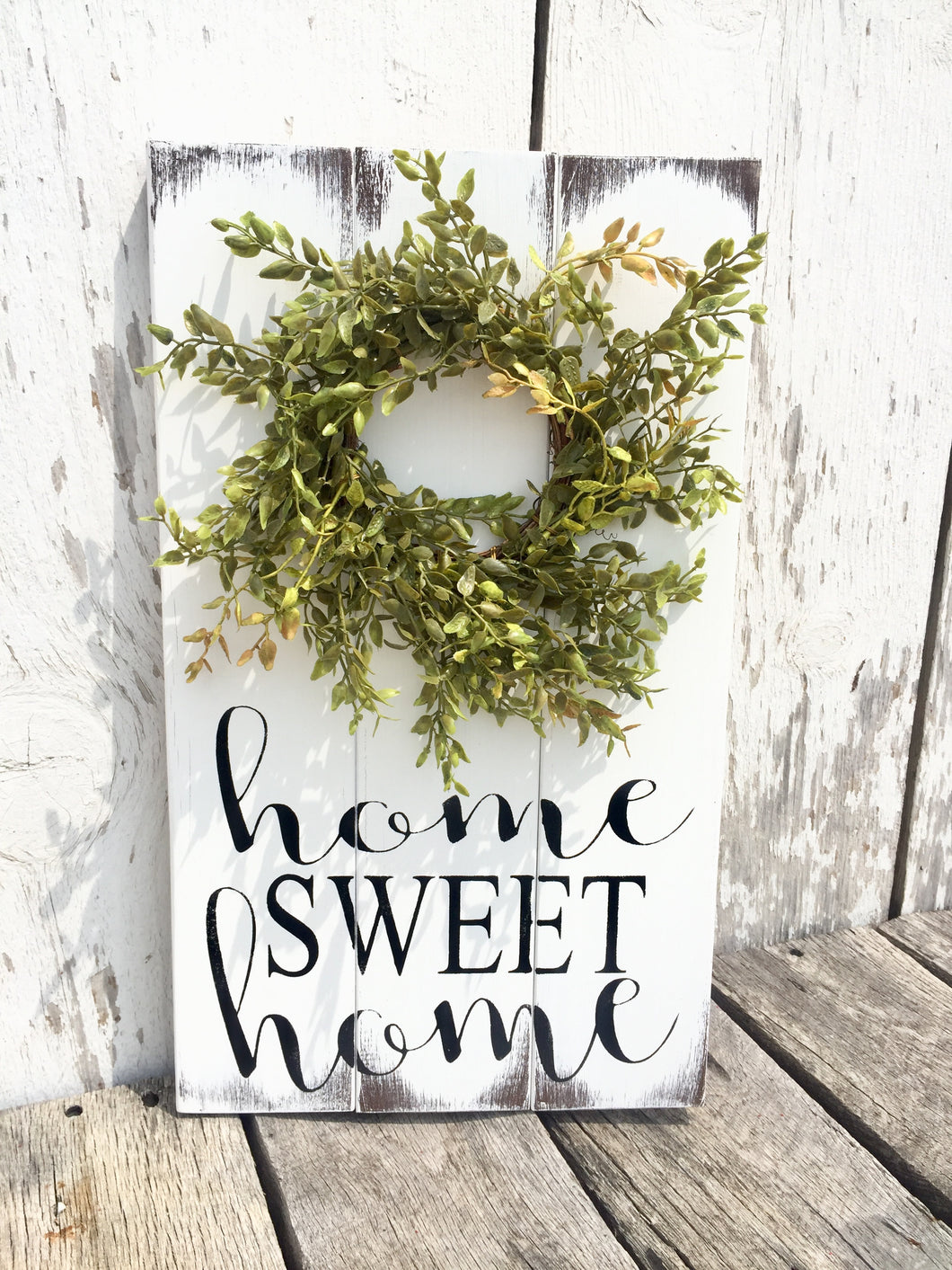 Home Sweet Home Wreath Sign