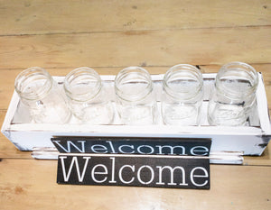 RBC 2020 Interchange Box - Welcome Plaque - 5 Ball Jars - Double Sided