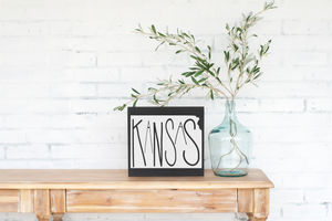 Kansas Wood State Sign - solid - 11.25""