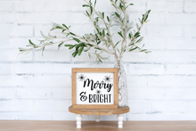 Merry & Bright - solid - 7.25""