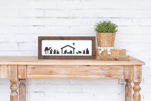 Framed Nativity Scene - 17.5""