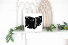 Ohio Wood State Sign - solid - 11.25""