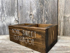 Teacher - Pencil Holder Box - Customized - 1 Word - Home Sweet Classroom - Back to School