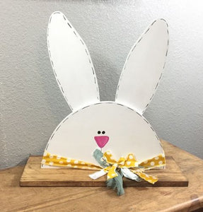 Large White Porch Spring Bunny Rabbit - Easter Decor - Spring Pastel Decorations - Outside Spring Decor