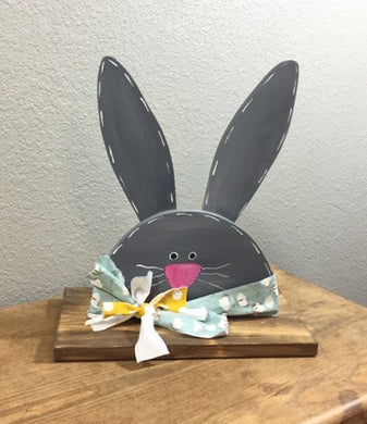 Medium Grey Porch Bunny - Spring Decor