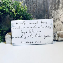 Birds Need Bees - Rustic Wood Wall Art Decor
