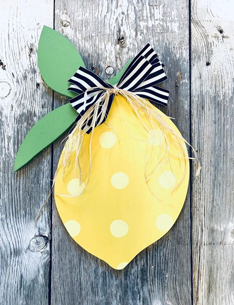 Lemon Door Hanger - Spring Decor
