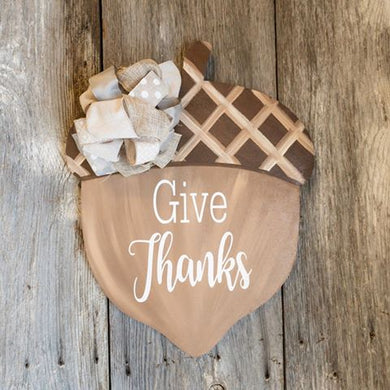 Acorn Door Hanger - Fall Decor - Nuts - Give Thanks Home Decor