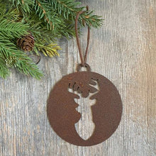 Metal Christmas Tree Ornaments - Farmhouse Holiday Decor - Rusted