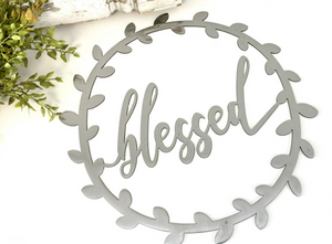 Blessed Metal Vine Wreath