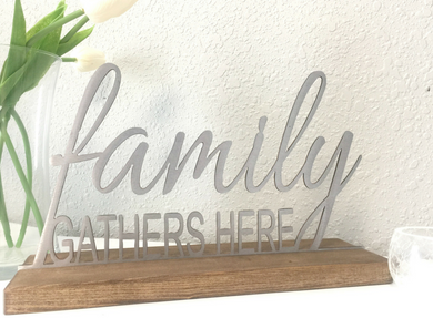Interchangeable Metal Shelf or Table Decor