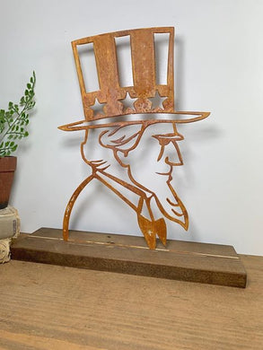 Fourth of July Decor - Uncle Sam - Metal Interchangeable