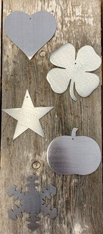 Interchangable Welcome Sign - welcome sign- metal interchangeable - star - heart - bunny - four leaf clover