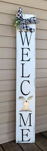 Welcome Porch Sign - Metal Interchangeable Sign - Seasonal Porch Decor - Wood Welcome Sign