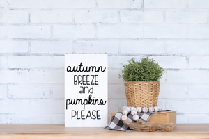 Autumn Breeze and Pumpkins Please - solid - 7.5""