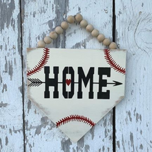 SMALL Baseball Plate with Beaded Hanger