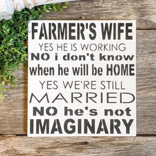 Farmer's Wife Sign- Personalized Wife Sign