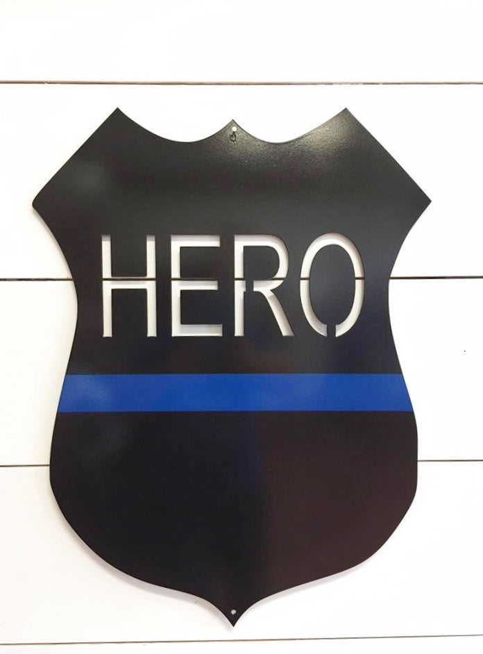 Hero 14 Gauge Metal Police Officer Shield