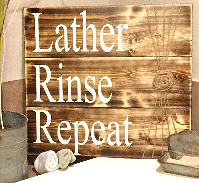 Bathroom Sign Bathroom Decor Rustic Bathroom Sign Bathroom Wall Rioak