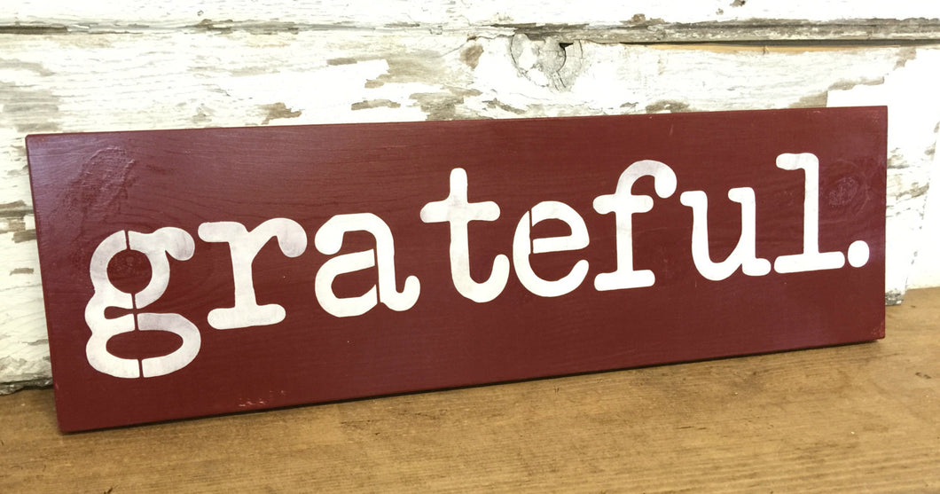 Rustic Wood Sign - Be Grateful Sign - Rustic Decor - Wood Wall Hanging - Hand Painted Sign - Fall Decor - Pine Wood Sign - Grateful