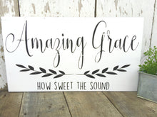 Amazing Grace How Sweet The Sound - solid - 11.25""