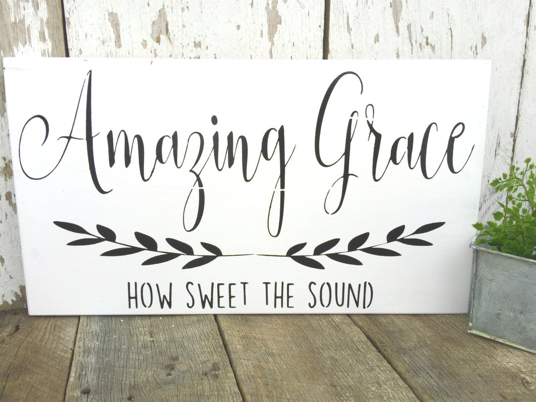 Amazing Grace How Sweet The Sound - solid - 11.25
