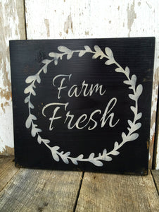 Farm House Sign - Farm Fresh - Rustic Wood Decor - Rustic Decor - Wooden Wall hanging - Hand Painted Wood Sign - Rustic Sign - Wood Sign