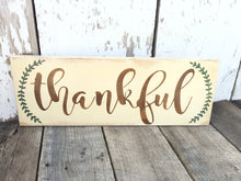 Thankful Wood Sign - Fall Decor - Rustic Fall Decor - Hand Painted Wood Sign - Thanksgiving Decor - Rustic Decor - Rustic Home Decor