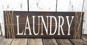 Laundry Room Signs - Laundry Room Decor - Rustic Laundry Signs - Laundry Wall Hangings - Wood Laundry Decor