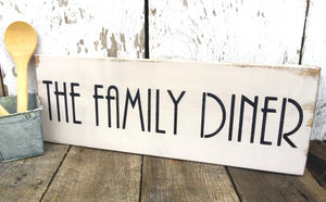 Rustic Wood Sign - Dining Room Decor - Family Sign - Hand Painted Wood Sign - Wooden Wall Hanging - Kitchen Decor -  Rustic Decor