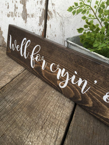 Rustic Home Decor - Rustic Wood Sign - Shelf Sitter - Wooden Wall Hanging - Rustic Decor - Rustic Wall Decor -  Wood Sign - Hand Painted