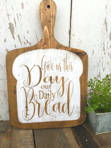Large Decorative Cutting Board -  Give Us This Day Our Daily Bread