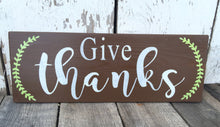 Give Thanks Wood Sign - Fall Decor - Rustic Fall Decor - Hand Painted Wood Sign - Thanksgiving Decor - Rustic Decor - Rustic Home Decor