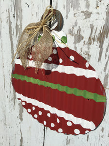 Corrugated Metal Ornament