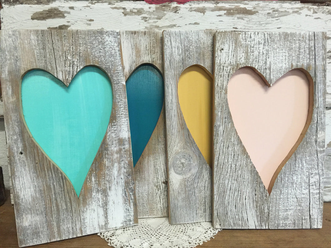 Rustic Barn Wood Heart - Rustic Home Decor - Valentines Day Decor - Rustic Wall Hanging - Hand Painted Home Decor - Rustic Sign