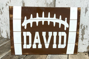 Customized Football Wood Sign